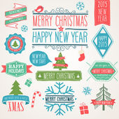 Merry Christmas icon set.  — Stock Vector
