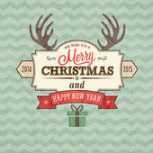 Vintage merry christmas card.  — Stock Vector