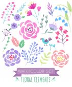 Watercolor seamless pattern.  — Stock Vector