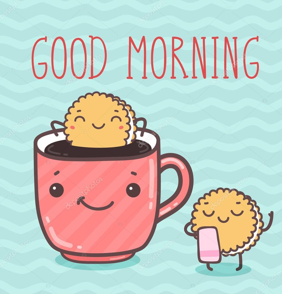 Guten Morgen Good Morning Buenos Dias Lied : Vector ilustración buenos días — de stock