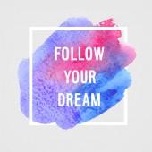 """Affiches de motivation """"suivre la direction vous rêvez"""". — Vecteur"""