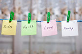 Messages written on a paper — Stockfoto