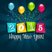 Happy New Year 2015 Greeting Card — Stock Vector