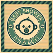 Tarjeta de felicitación de la ducha de bebé — Vector de stock