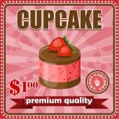 复古蛋糕海报 — 图库矢量图片