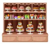 Store of sweets and bakery. vector illustration — Stock vektor
