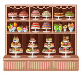 Store of sweets and bakery — Stock Vector
