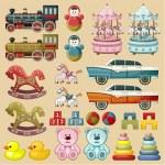 Set of toys. vector — Stock Vector #57308353