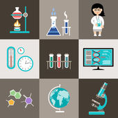 Science set. Infographic. — Stock Vector