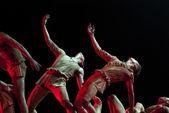 Modern Group dancers — Stock Photo