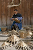 Man and traditional handwork — Stock Photo