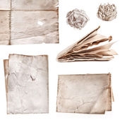 Collection of old paper — Stock Photo