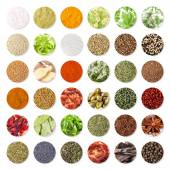 Collection of spices and herbs (clipping path) — Stock Photo