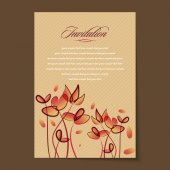Beautiful vintage invitation cards Layouts — Stock Vector