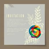 Beautiful vintage invitation cards — Stock Vector