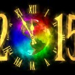 Happy new year 2015 - rainbow planet Earth - America — Stock Photo #59184207