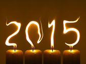Happy new year 2015 - flames — Stock Photo