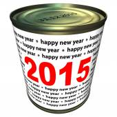 Happy new year 2015 - can — Stock Photo