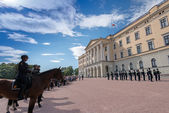 Change of Guards at Royal Palace Oslo — Stock Photo