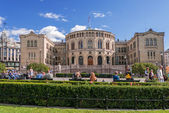 Oslo Parlament on summer day — Stock Photo
