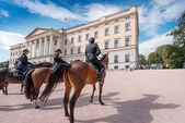 Mounted Police near Royal Palace — Stock Photo