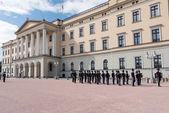 Change of Guards at Royal Palace Norway — Stock Photo