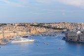 Valletta Skyline with marina — Foto de Stock