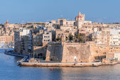 Valletta Skyline with wall — 图库照片