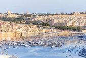 Valletta Skyline with marina — Stockfoto