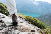 Hiking boot close up — Stock Photo