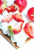 Sandwich with strawberry — Stock Photo