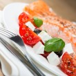 Grilled salmon on plate — Stock Photo #57855607