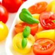 Red and yellow cherry tomatoes — Stock Photo #67163137
