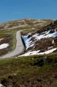 Norwegen-Straße-Landschaft in Bergen — Stockfoto
