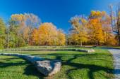 Amphitheatre in autumn park — Stock Photo