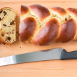 Braided bread with fruits and nuts. — Stock Photo #61369787