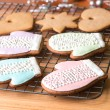 Christmas cookies on cooling rack. — Stock Photo #66210041