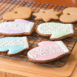 Christmas cookies on cooling rack. — Stock Photo #66210093