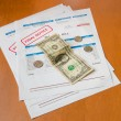 Medical bill from the hospital, concept of rising medical cost. — Stock Photo #72512931