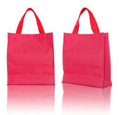 Red shopping bag on white background  — Stock Photo