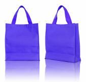 Blue shopping bag on white background  — Stock Photo