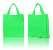 Green shopping bag on white background  — Stock Photo