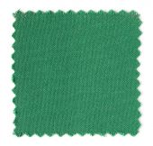 Green fabric swatch samples isolated on white background — Stock Photo