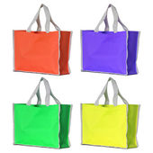 Set of colorful shopping bag isolated on white with clipping pat — Stock Photo
