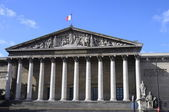 Building of National assembly in Paris and blue sky — Stock Photo