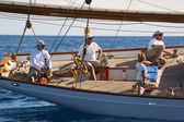 Ancient sailing boat during a regatta at the Panerai Classic Yac — Stock Photo