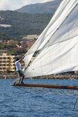 Starobylé plachetnici během závodu na klasické yac panerai — Stock fotografie