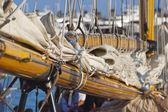 Antiguo velero durante una regata en el yac clásica panerai — Foto de Stock