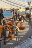 Ancien voilier pendant une régate à l'yac classique panerai — Photo