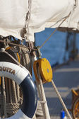 Gamla segelbåt under en regatta på panerai classic yac — Stockfoto